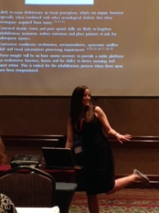 Presenting my fellowship publication while modeling my OKN shoes.